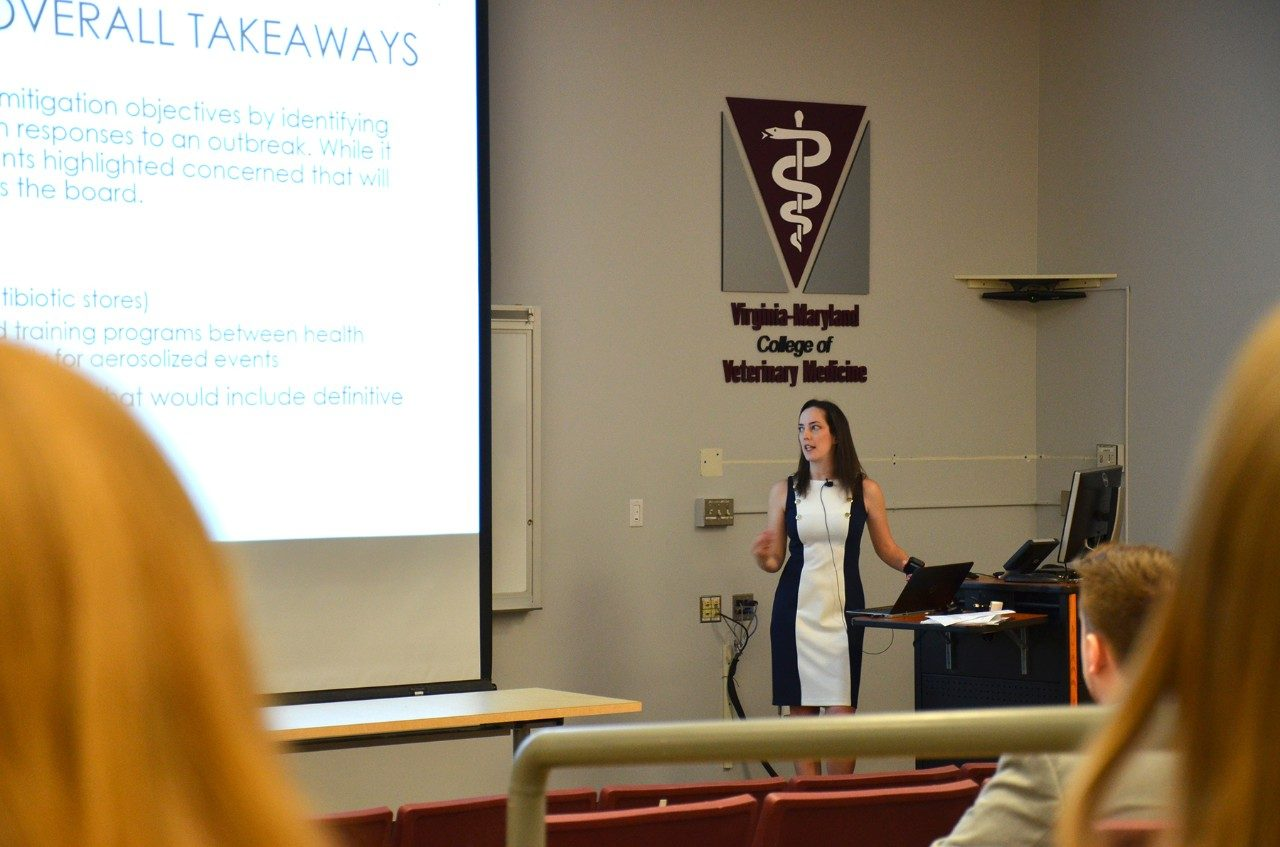 Megan Kearney, MPH graduate, presented on her work with the Southwest Border Food Protection and Emergency Preparedness Center at New Mexico State University.