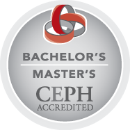 Council on Education for Public Health (CEPH) accredited bachelor's and master's logo