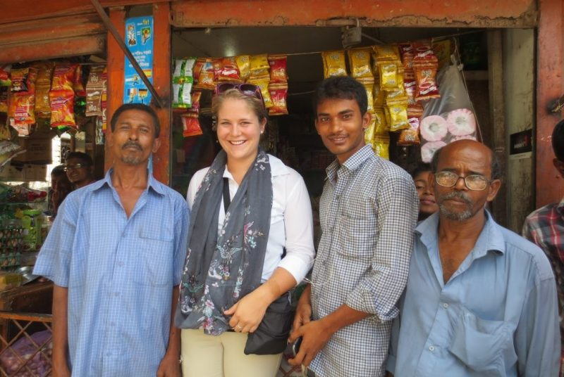 Photo of Jessica Agnew on a research trip to Bangladesh