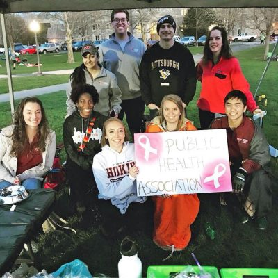 PHA@VT members at VT Relay for Life 2018