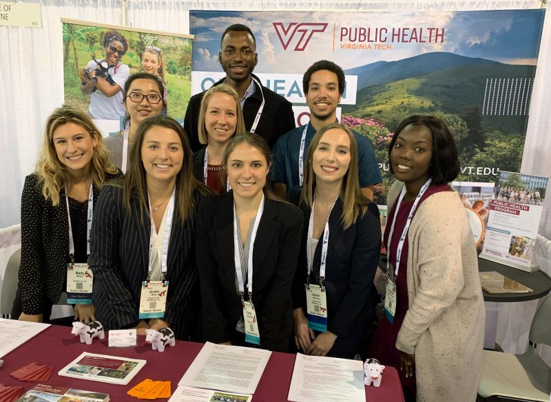 MPH students attend the APHA 2019 Annual Meeting & Public Health Expo in Philadelphia, Pennsylvania