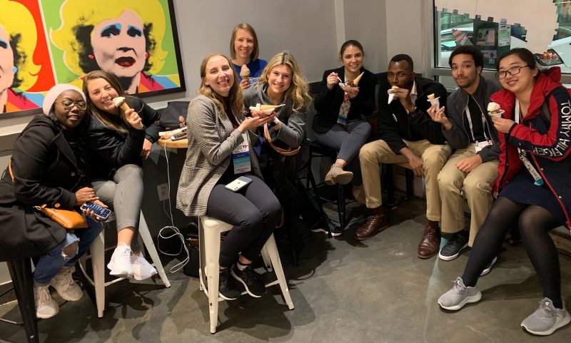 MPH students taking a break and enjoying ice cream while at the 2019 American Public Health Association Annual Meeting